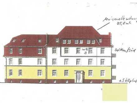 gepflegte Maisonettewohnung mit Balkon und Stellplatz als Kapitalanlage in Zwickau