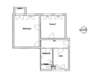 Befristet, einfacher Zustand! 2-Zimmer-Wohnung mit Balkon im Wedding