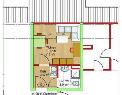 nette, helle 1-Zimmer-Wohnung