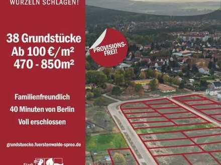 39 Baugrundstücke nahe Berlin nur 20 Min. vom künftigen Tesla Werk. Ab 100 Euro/Quadratmeter