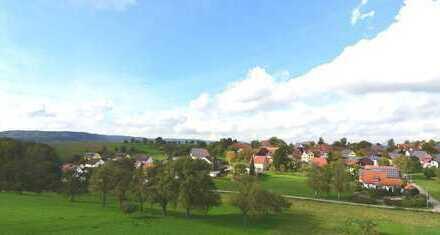 Wohnen mit Blick auf die Waldenburger Berge