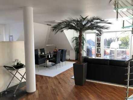 Exklusive Maisonette-Wohnung mit großem Balkon und Blick über Aschaffenburg