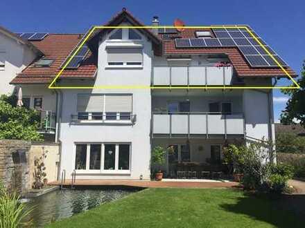 Erstbezug nach Sanierung: schöne 5-Zimmer-Maisonette-Wohnung mit Balkon in 76297 Blankenloch
