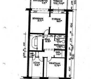 3-Zimmer-Wohnung mit Einbauküche, Kaminofen, Terrasse und Garten in Bremen