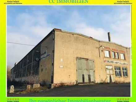 HILDBURGHAUSEN : ca.10 358 m² GRUNDSTÜCK - ca. 5652 m² HALLE MIT NEBENGEBÄUDEN TOP RENDITE !