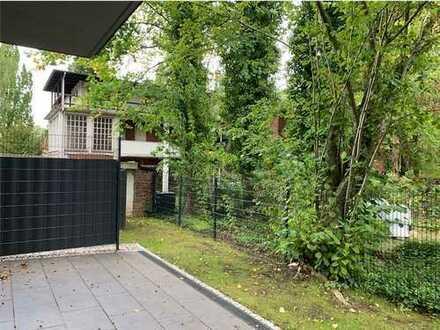 Im Grünen am Blauen. Komfortable Wohnung mit großer Terrasse