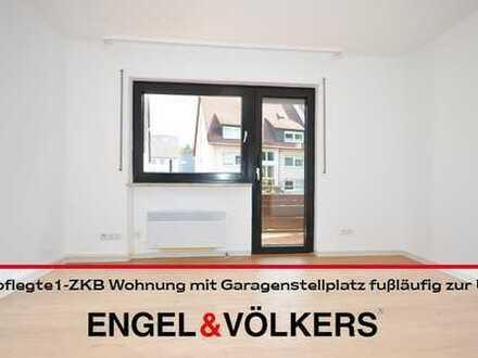 Gepflegte 1- ZKB Wohnung mit Garagenstellplatz nahe UNI
