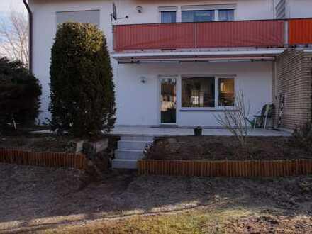 Erstbezug nach Sanierung mit Terasse : exklusive 3-Zimmer-Erdgeschosswohnung in Aschaffenburg