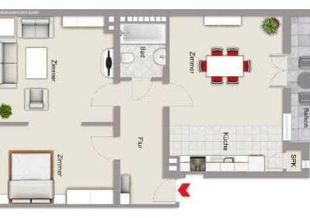KAPITALANLAGE oder selbst einziehen - modernisierte 2Zi-Altbau-ETW mit Balkon und Garage
