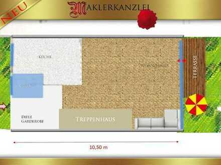 +++ NEU +++ Reihenhäuschen mit Garten, Keller, ausgeb. Dach mit kl. Garten, Vorgarten und Garage