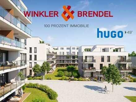 Neubau: Gehobene 3-Zimmer-Wohnung im Stadtquartier hugo49