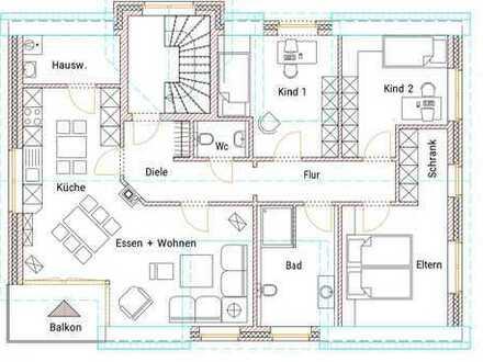 Erstbezug mit Balkon: attraktive 3,5-Zimmer-DG-Wohnung in Coesfeld-Lette
