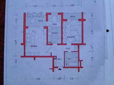 Schöne, große 2-Zimmer-Wohnung in Limburgerhof, unmöbliert