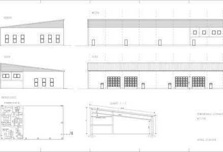NEUBAUHALLE; 1.200 m² direkt an der A8 Mieterwünsche können noch berücksichtigt werden!