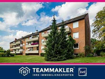 Großzügige Wohnung in Quickborn-Heide: 2,5 Zimmer + wohnlichem Souterrain.