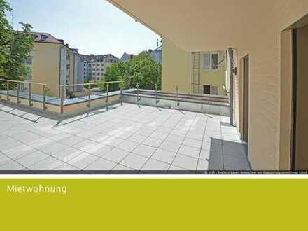 Neubau 3-Zimmer-Wohnung mit XXL Balkon und Blick in den ruhigen Innenhof