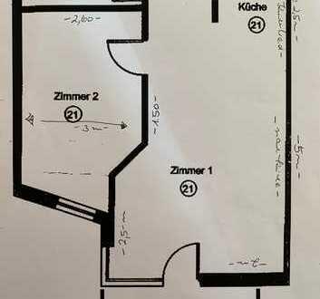 Schicke 2-Zi. Wohnung im Stuttgarter Osten, 54 qm, voll möbliert
