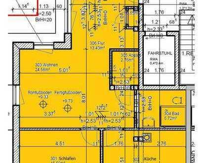 2-Zimmer-Penthouse-Wohnung (barrierefrei) mit Dachterrasse in Seniorenwohnanlage in Wiesenau