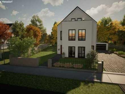 Exklusive Baulücke am alten Kanal mit modernen Okal Haus in Nürnberg Gartenstadt