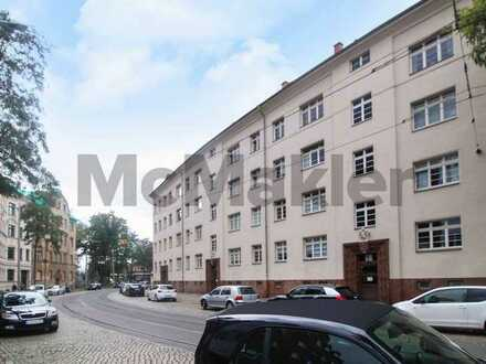 Gute Lage, gepflegter Zustand: Bewohnte 3-Zi.-Wohnung mit Balkon in Mockau-Nord