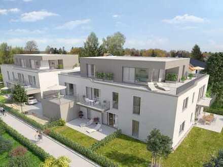 Großzügige 3 ZKB Neubauwohnung mit 24 m² Sonnenterrasse und 220 m² Gartenanteil in Augsburg Hochzoll