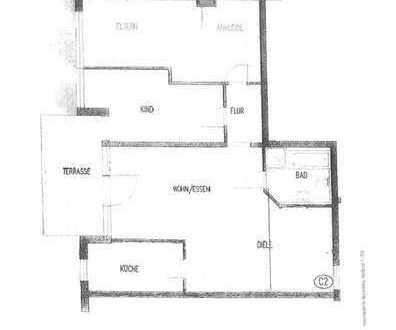 Komfortable Wohnung mit Grundstück.