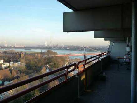 gemütliche Wohnung mit Blick auf den Rhein zu vermieten