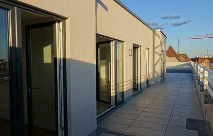 Riesige Dachterrasse mit Burgblick, EBK, traumhafte 4 Zi-Penthouse-Wohnung - Erstbezug