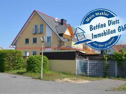 **RESERVIERT**DIETZ: Moderne Maisonette-Wohnung mit SONNEN-Balkon, zwei Bädern