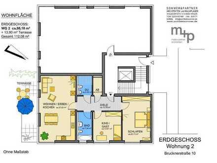 Ihr neues Zuhause im Klosterviertel - Erdgeschosswohnung zum Erstbezug in der Brucknerstraße 10