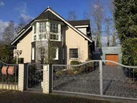 Luxus Haus mit Gewerbehalle + KAMIN + 30m² Terrasse + Sauna + Klima + Alarmanlage + Videoüberwachung