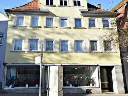 Denkmalgeschütztes 3-geschossiges Wohnhaus mit Gewerberäume in Schwäbisch Gmünd-Stadtmitte