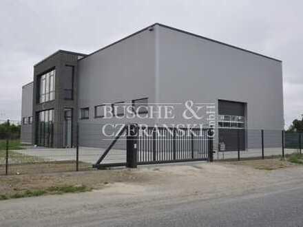 Neubau Werkstatt mit Hebebühne in Münster Wolbeck