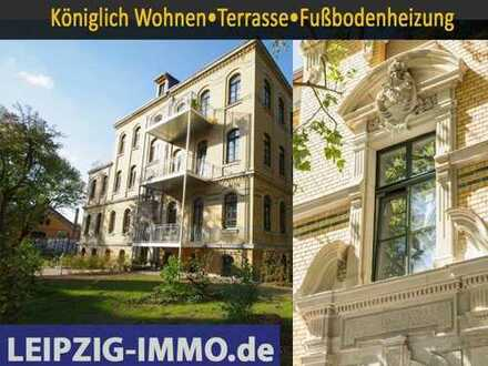 * Gohlis Nord * 4-Raumwohnung mit super Grundriss* Terrasse* Parkett * Fußbodenheizung * GästeWC