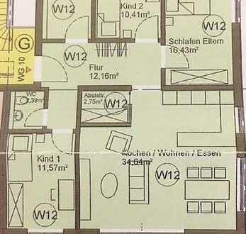 Neubau/Erstbezug - Großzügige 4-Zimmer-Wohnung zu verkaufen