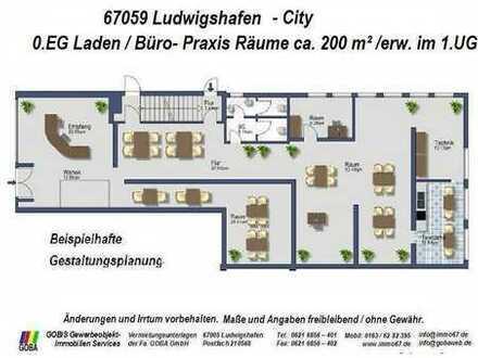 Lu City - ab 3-2013 o. früher Ladenfläche ca. 200 m² - auch für Büro/Dienstleistungen - Top Lage