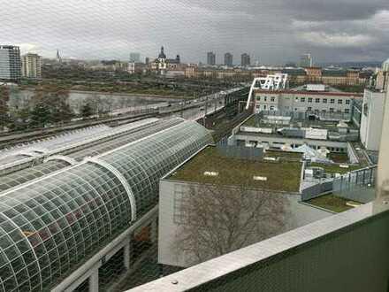 Neu sanierte 2-Zimmer-Wohnung mit Balkon und Einbauküche in Ludwigshafen und Ausblick nach Mannheim