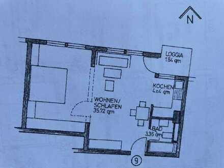 Helle, renovierte 1,5-Zimmer-Wohnung mit Balkon in Brühl