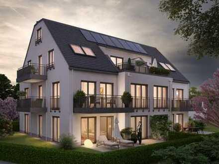 E & Co.- Neubau / Erstbezug. Moderne 2,5 Zimmer Dachgeschoss Wohnung mit Balkon und Dachterrasse.
