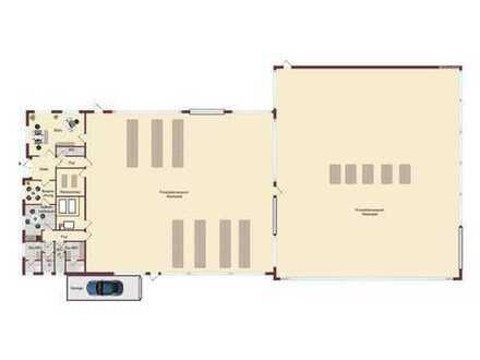 Sofort beziehbar! Produktion- und Lagerhalle mit Büro und Freifläche