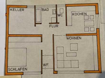 Gepflegte Erdgeschosswohnung mit 2 Zimmern
