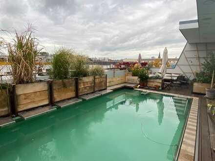 Leben und Arbeiten - Top DG-Maisonette mit Pool, großer Terrasse und Ausstattung der Superlative