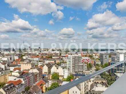 Penthouse mit spektakulärem Blick über Hamburg