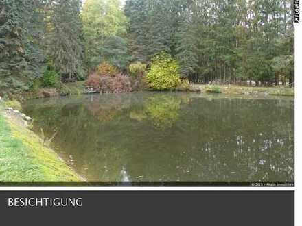 Alleinlage Teichanlage mit Fischerhütte mit großem Grundstück ca. 9188qm