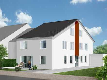 Modernes Doppelhaushälften für die junge Familie mit Garten