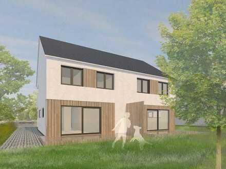 Frei geplantes Doppelhaus in gewachsener Siedlungslage