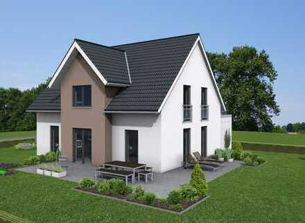 Modernes energieeffizientes Einfamilienhaus mit schönem Blick in freier Lage