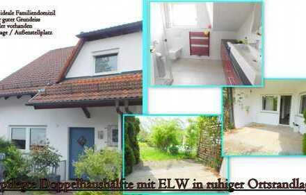 *Gepflegte Doppelhaushälfte mit ELW in ruhiger Ortsrandlage*
