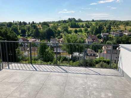 Neubau: traumhafte 5-Zimmer-Wohnung Maisonette im OG/DG mit wunderschöner Aussicht in Südlage