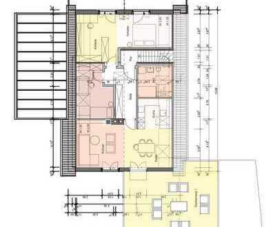 Erstbezug nach Kernsanierung: freundliche 3-Zimmer-DG-Wohnung mit Dachterrasse in Borken-Weseke